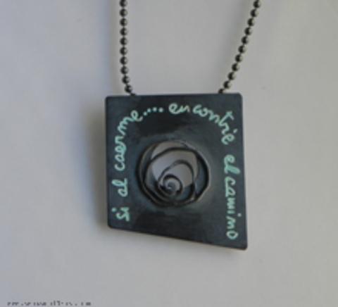 Asun Aguilera - Colgante  Si al caerme...encontré el camino   165 € - emociones hechas joyas,joyería de Autor,Asun Aguilera