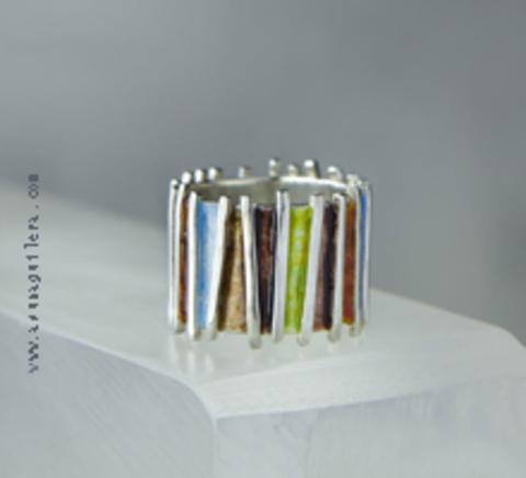 Asun Aguilera - Anillo JAPONESA – Ancho - Brillo   90 € - emociones hechas joyas,joyería de Autor,Asun Aguilera