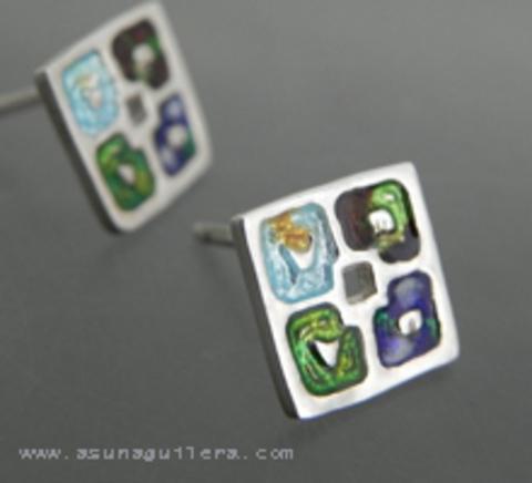 Asun Aguilera - Pendientes LAS 4 ESTACCIONES - Presión   56 € - emociones hechas joyas,joyería de Autor,Asun Aguilera