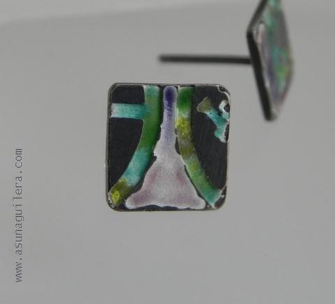 Asun Aguilera - Pendientes RETAZOS DE RECUERDOS   77 € - emociones hechas joyas,joyería de Autor,Asun Aguilera