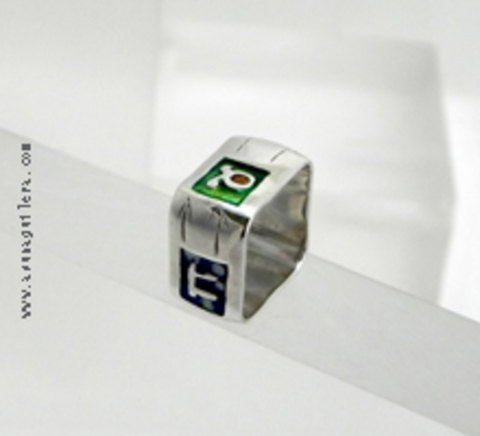 Asun Aguilera - THE 4 SEASONS Ring-Square   68 € - emociones hechas joyas,joyería de Autor,Asun Aguilera