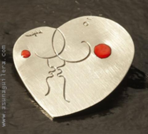 Asun Aguilera - THE LOVERS Pendant   95 € - emociones hechas joyas,joyería de Autor,Asun Aguilera